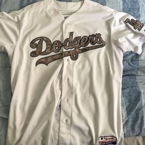 Dodgers 2015 Authentic Memorial Day Jersey Size 52